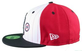 Dissizit! LA Hands 9212 New Era Fitted Cap Red/Wht Pinstripe Hat Baseball image 5