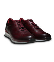 Moreschi Men's Burgundy Calf Leather Sparta Sneakers Shoes - $370.00