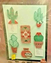 Needlecraft Ala Mode Southwest Magnets Cactus Pottery Rug Plastic Canvas... - $25.00