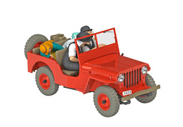 The Red Jeep Willys 1/24 Voiture Tintin car Tintin & Land of Black Gold New