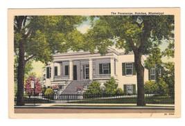 MS Natchez Mississippi The Parsonage Mansion Vintage Linen Postcard - $6.69