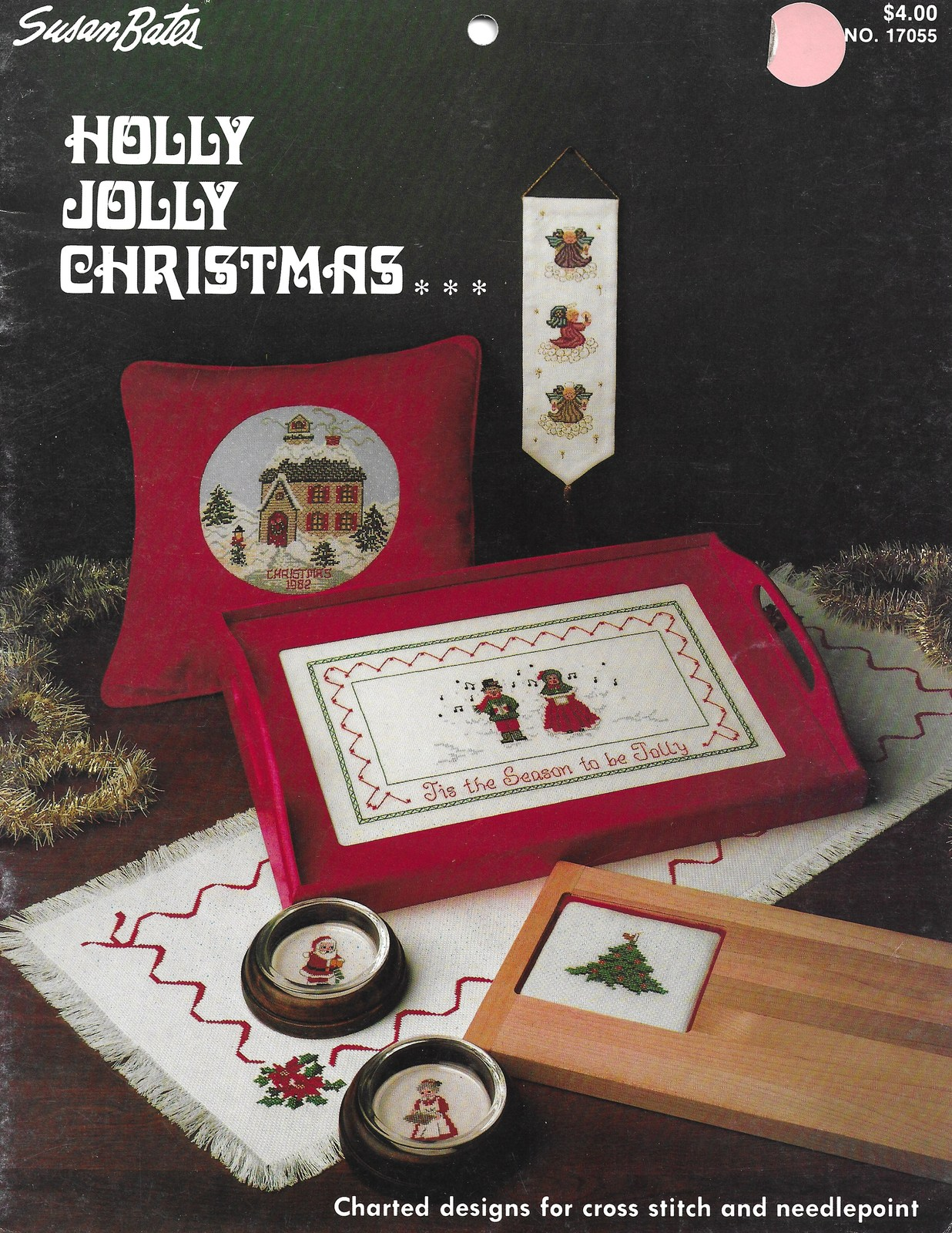 Susan Bates Holly Jolly Christmas Cross Stitch Chart Pattern Book - $7.99