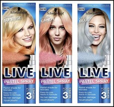 NEW Schwarzkopf LIVE Pastel Hair Spray For Up to 3 Washes Temporary hair colour - $9.77