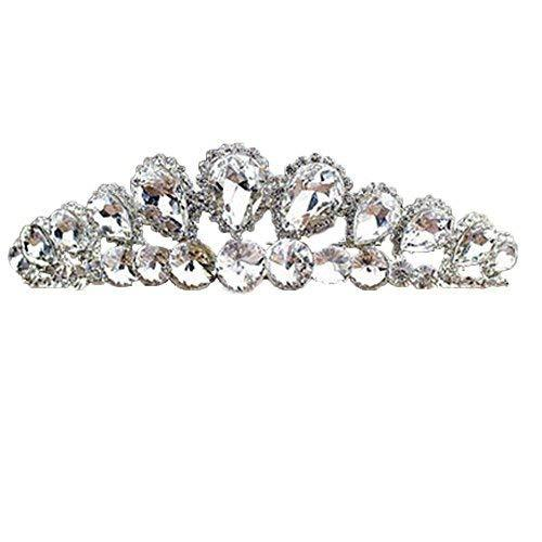 Simple Style Dazzle Sliver Alloy Wedding Hair Comb Crown Headband