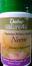 3 Bottles!  Dabur Neem 100% Vegetarian 60 Capsules USA SELLER FAST SHIPPING - $28.00
