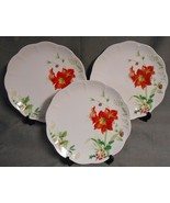 Set (3) Lenox WINTER MEADOW PATTERN - AMARYLLIS Dinner Plates HOLIDAY-CH... - $59.39