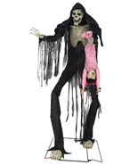 Animated Life Size 7 ft TOWERING BOOGEY MAN Halloween Prop  SEE VIDEO - $252.09