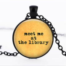 Meet Me Library Cabochon Necklace (13072) >> Combined Shipping - $3.71
