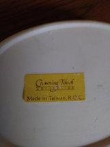 Vintage Hallmark Crowning Touch Cream Yellow Cat Trinket Jewelry Box image 3
