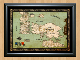 Game Of Thrones Drawing Map GoT Deco A4 Photo Print Poster TV Show Memor... - $11.95