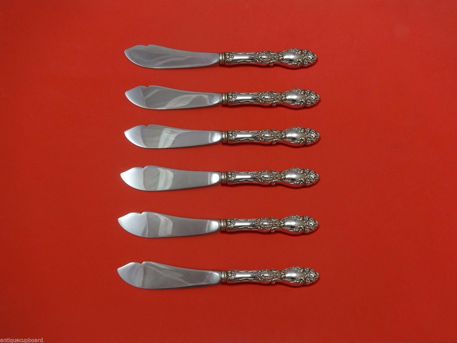 Primary image for Lucerne by Wallace Sterling Silver Trout Knife Set 6pc. HHWS  Custom 7 1/2""