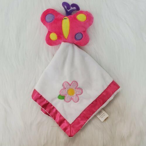 Dan Dee Butterfly  Flower Girl Lovey & Security Blanket Pink White B350 - $9.97
