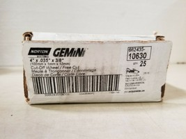 "Box of 25 Norton Gemini 662435-10630 Cut Off Wheel/Free Cut 4"" x .035"" x... - $75.99"
