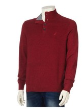Nautica Long Sleeve Mockneck Pullover, Ribbon Red, Size XL. - $21.77