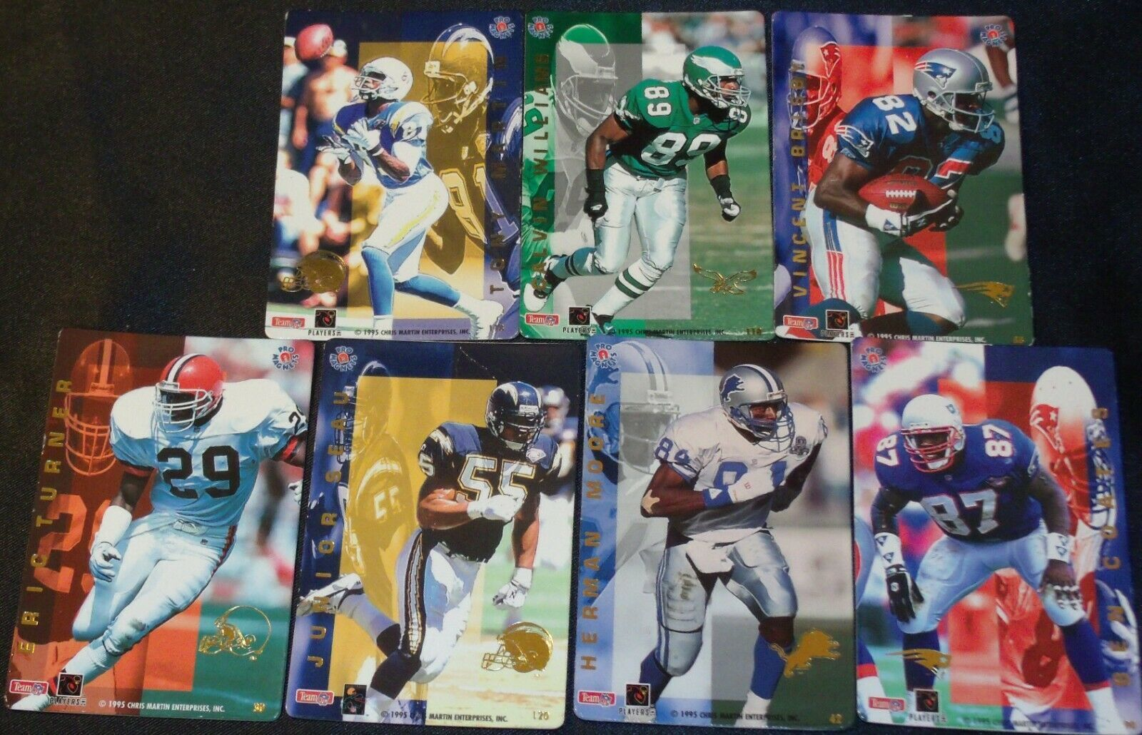 Action-Packed Linebackers AA20-FTC3020 Vintage Magnetic Backs