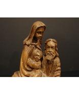 Olive Wood Hand Carved Nativity Holy Family Statue Handmade in Bethlehem - $49.90