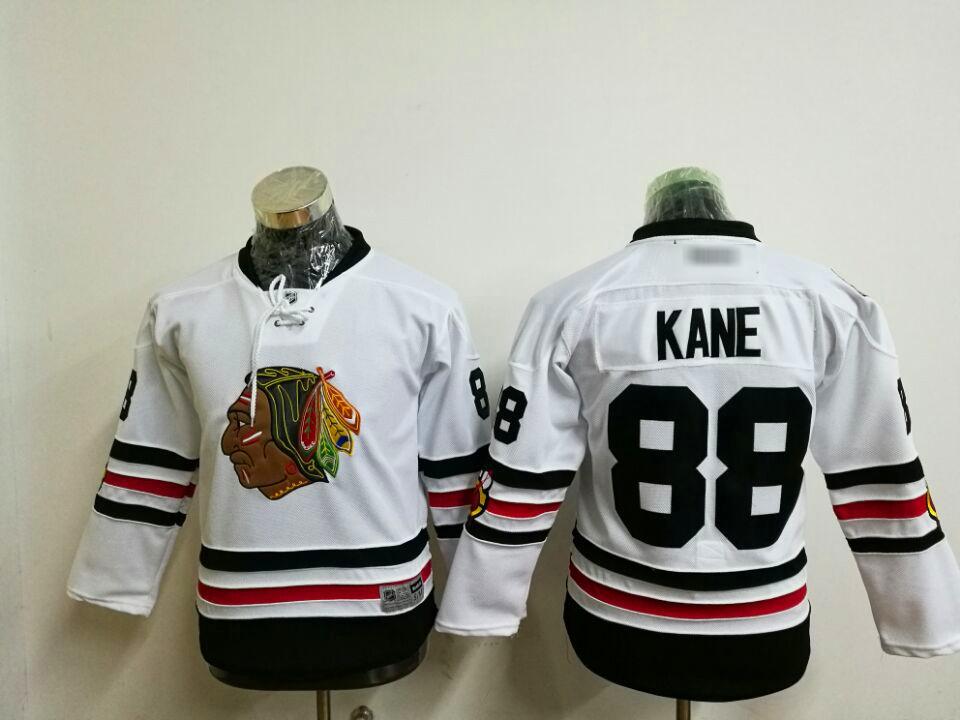 Used, Men's Chicago Blackhawks Ice Hockey Jerseys, 88 Patrick Kane #White1 for sale  USA