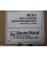 ELECTRO-VOICE WCB-1 Wall ceiling Mount Speaker Bracket PI100 FR12-2 PI10... - $98.99