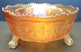 "1930s Fenton Marigold Carnival Glass 8 1/2"" Bowl - Butterfly and Berry - $94.99"