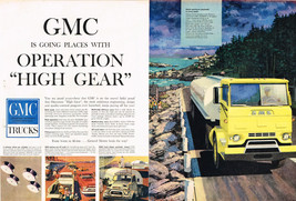 Vintage 1959 2-Page Magazine Ad GMC Truck Abitious Engineering Design Paying Off - $5.93