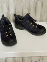 Womens Lands End 34694 Size 7.5 B Hiking Walking Shoe Navy Blue - $20.10