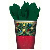Warmth of Christmas 9 oz Hot Cold Paper Cups 8 Ct - $3.46