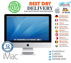 """Apple iMac 20"""" Core 2 Duo 2.4GHz 2GB Ram 320GB HDD Mac OS Excellent cond... - $150.80"""