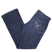 James Jeans Cured by Seun Womens 30 Neo Wenge Low Rise Boot Cut Blue Dar... - $14.99