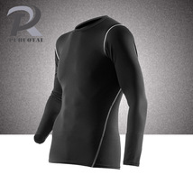 Plus Size Quick Dry Compression Shirt Long Sleeves  Bodybuilding Solid C... - $15.99