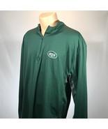 New York Jets 2XL Shirt Mens 1/4 Zip Long Sleeve Size NFL Football Green  - $17.75