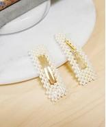 Pearl Hair Clip, Alligator Hair Clip, Pearl Hair Barrette - $8.71