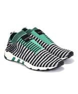 adidas Men EQT Support Sock Primeknit Shoes B37522 Core Black Grey Green Size 8 - $79.95