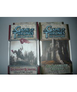 A Game of Thrones chapter pack lot of 2 on dangerous ground dreadfort be... - $10.98