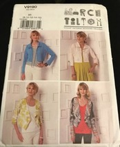 Vogue V9190 Marcy Tilton Designer Originals Shrugs Sizes 8-16 Pattern Uncut - $19.57