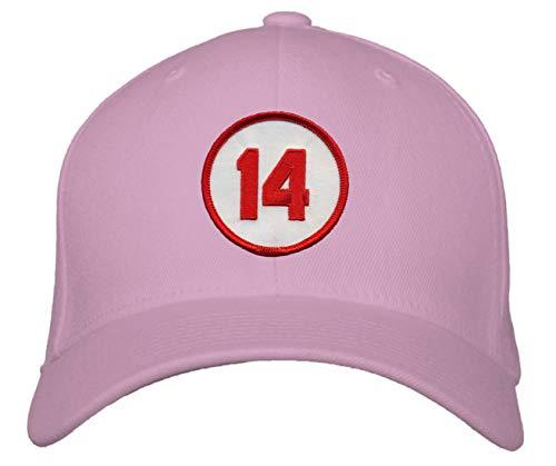 Pete Rose #14 Hat - Cincinnati Baseball Adjustable Women's Cap (Pink)