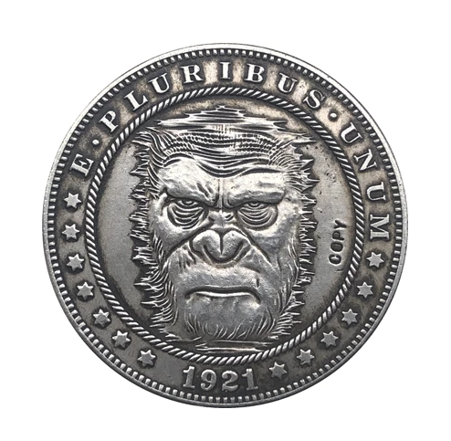 Primary image for Hobo Nickel 1921-D USA Morgan Dollar Gorilla COPPY COIN For Gift