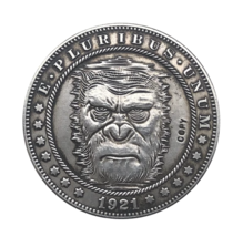 Hobo Nickel 1921-D USA Morgan Dollar Gorilla COPPY COIN For Gift - $5.99