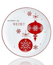 The Cellar Dinnerware Sentiments Naughty Or Nice Salad / Dessert Plates ... - $34.99