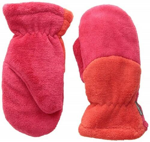 S/M White Sierra Youth Cozy Reversible Mittens Hibiscus/Milky NEW