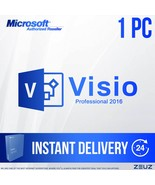 NEW Microsoft Visio Professional 2016 Product Key - 1 PC for a Lifetime - $49.99