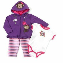 Baby girl's 12 months Buster Brown 3 piece hoodie, pants & bodysuit B600D - $14.00