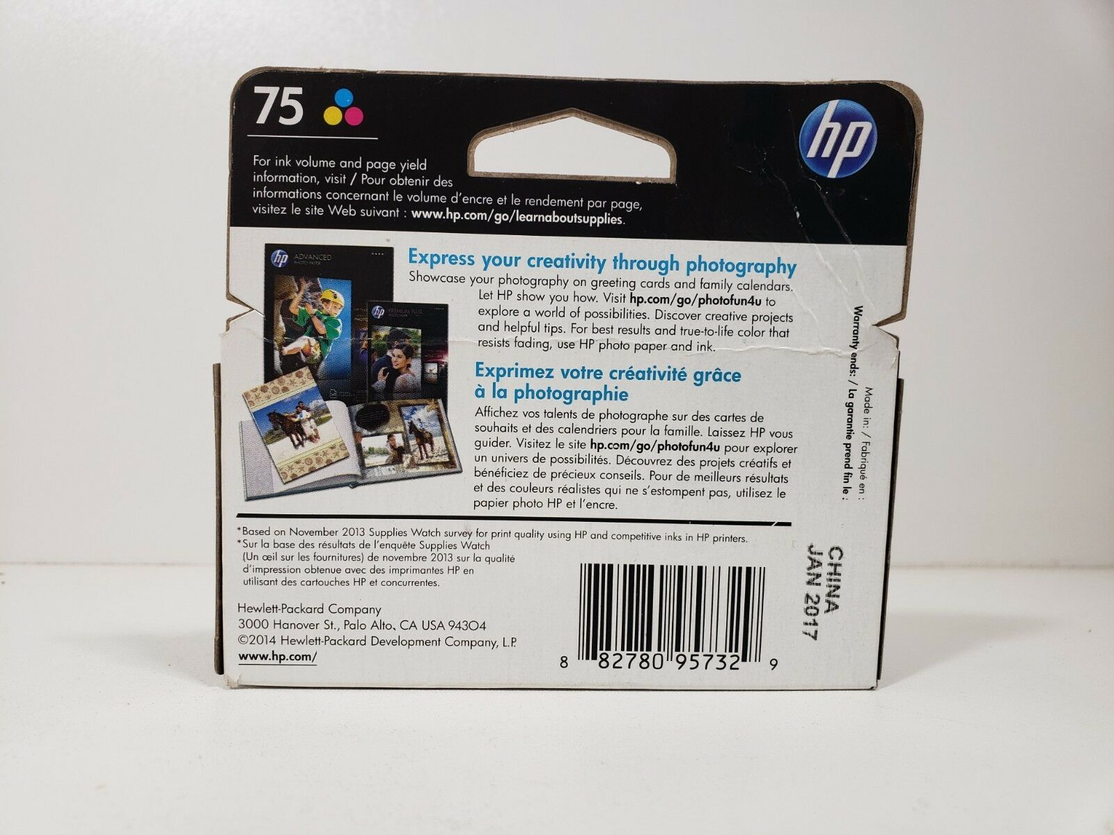 HP 75 tri-color ink.. Expired .. Factory Sealed image 2