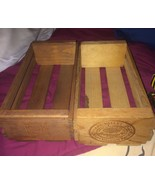 VTG LOT 2 Napa Valley Wooden Cassette Tape Storage Crates Hold 12 Tapes ... - $33.20