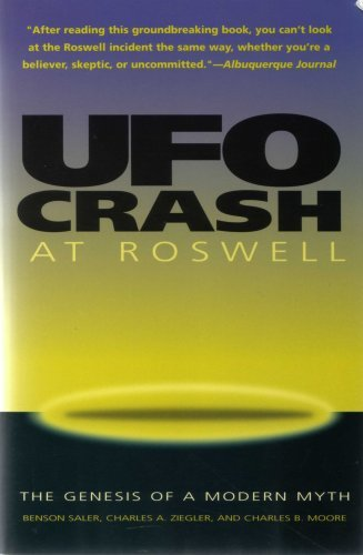 Primary image for UFO Crash at Roswell: Genesis of a Modern Myth Benson Saler and Charles Ziegler