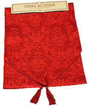 Holiday-6-ft RED TABLE RUNNER DOOR SWAG DRESSER SCARF-Christmas Party De... - $6.90