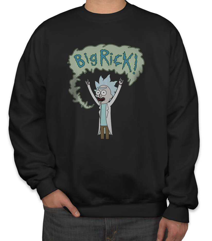 Primary image for Big Rick! Sweater Sweatshirt BLACK