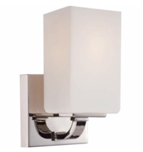 "Nuvo Lighting N605181 ""Vista"" 1Bulb Wall Sconce in Polished Nickel - $35.59"