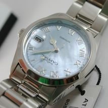 CAPITAL WATCH AUTOMATIC MOVEMENT 35 MM CASE WITH DATE, BLUE MOTHER OF PEARL image 3