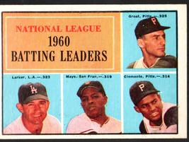 1961 Topps #41 NL Batting Leaders Groat/Larker/Mays/Clemente Ex/Mt - $21.27