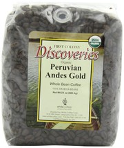 First Colony Organic Whole Bean Coffee, Peruvian Andes Gold, 24-Ounce - $17.58